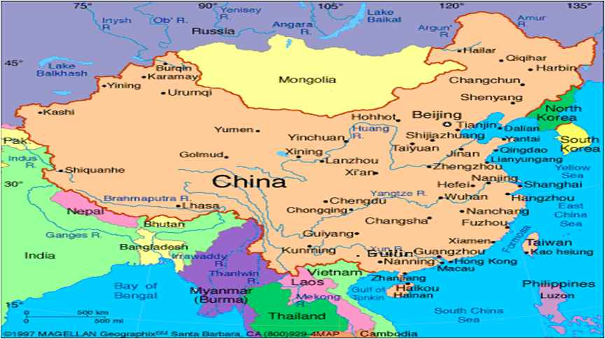China geography rivers the yangtze river is the 3rd largest in the world 6300 km long and the yellow river stretching 5464 km publicscrutiny Image collections